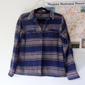 Patagonia Serape Striped Organic Cotton Flannel
